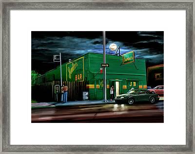 Jumbo's Bar Detroit Framed Print by David Kyte