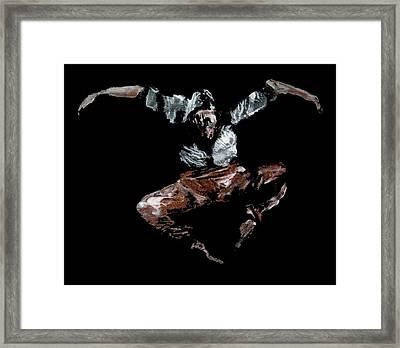 Jump Framed Print by Ana Bikic