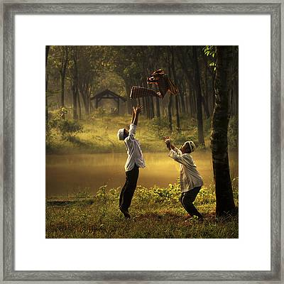 Jump Framed Print by Andre Arment