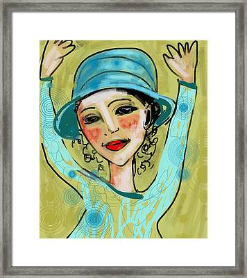 Framed Print featuring the digital art Jump For Joy by Elaine Lanoue
