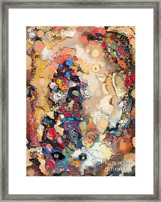 Jump In Framed Print by Carrie Joy Byrnes