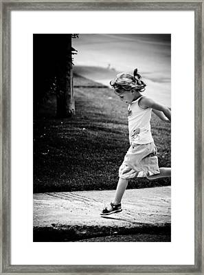 Jump In Framed Print by Maggie Terlecki