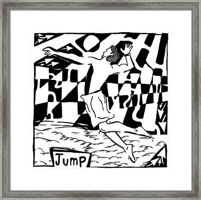 Jump Maze Framed Print by Yonatan Frimer Maze Artist