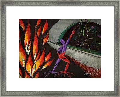 Jump Now Framed Print by Suzi Gessert