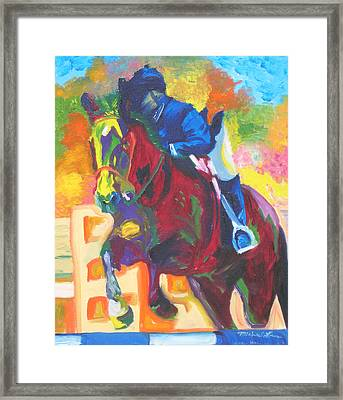 Jump Off Framed Print by Michael Lee