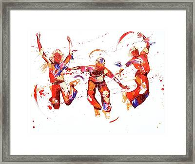 Jump Framed Print by Penny Warden