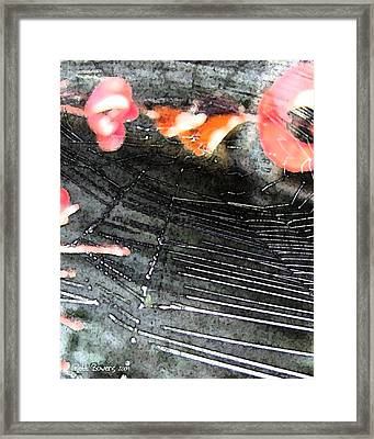 Jump Right Ahead In My Web Framed Print by Everett Bowers
