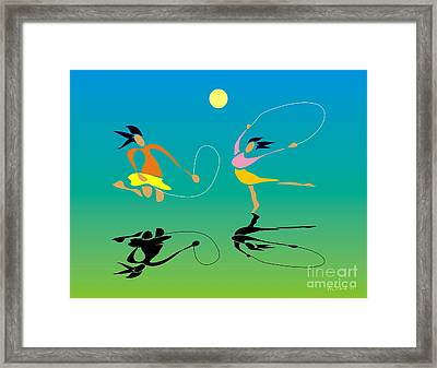 Jump-rope Framed Print