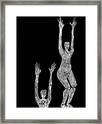 Jump Up Framed Print by Patricia Bigelow