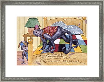 Jumpin Monkeys Framed Print by Victoria Heryet