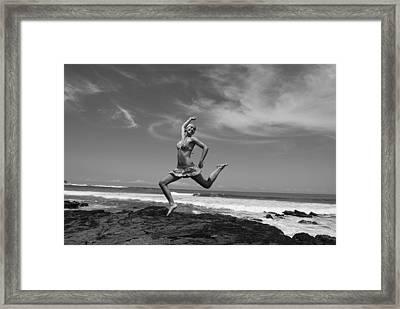 Jumping Framed Print by Cesar Marino