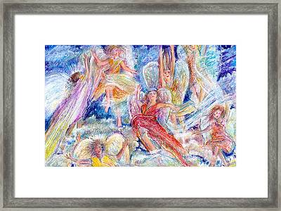 Jumping For Joy Angels Framed Print by Laurie Parker