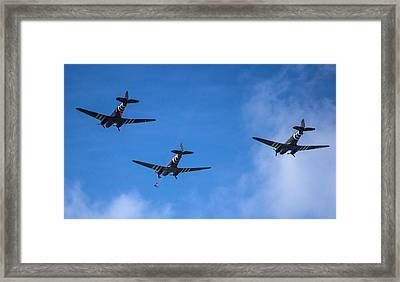 Jumping In Framed Print by Martin Newman