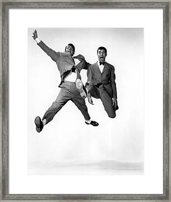 Jumping Jacks, Dean Martin, Jerry Framed Print