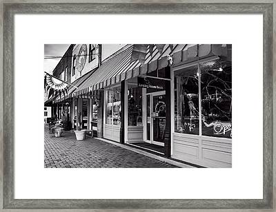 Jumping Mouse In Blue Ridge Black And White Framed Print