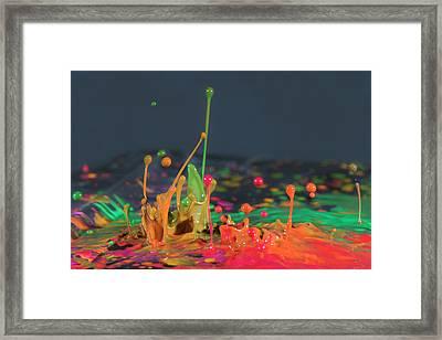Explosive Paint Framed Print