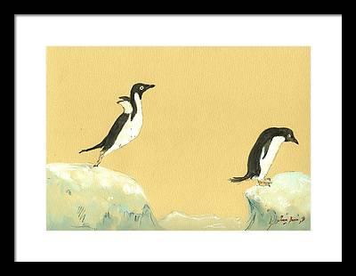 Sea Birds Framed Prints