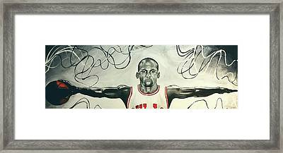 Jumpman  Framed Print by Lawrence Saunders