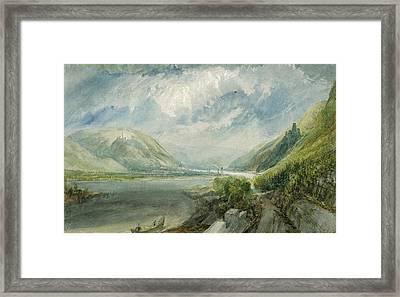Junction Of The Lahn Framed Print by Joseph Mallord William Turner