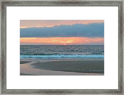 June 20 Nags Head Sunrise Framed Print