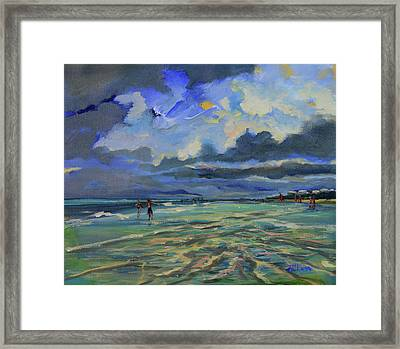 June Afternoon Tidepool Framed Print