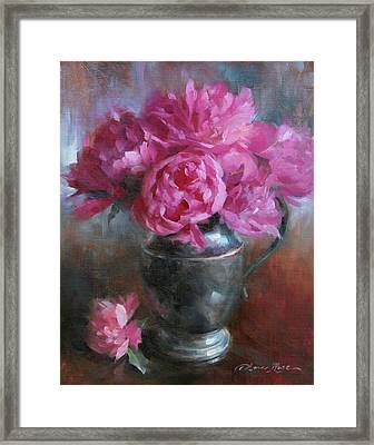 June Bouquet Framed Print by Anna Rose Bain