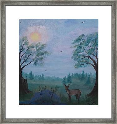 June Buck Framed Print by Lori Lafevers