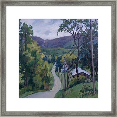 June Drizzle Berkshires Framed Print by Thor Wickstrom