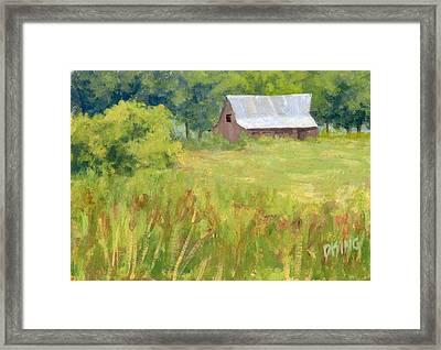 June Field Framed Print by David King