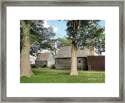 June Morning On The Waterfront Framed Print by Janice Drew