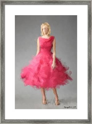 Framed Print featuring the digital art June by Nancy Levan