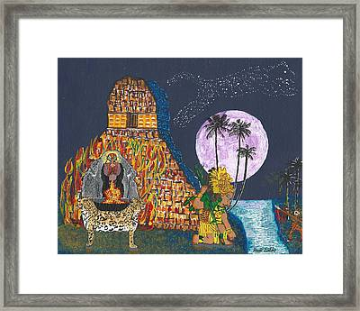 June  Shaman And Priestess  Framed Print