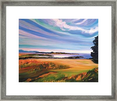 June Skies At Helliwell Framed Print by Karen Elder