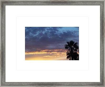 June Sunset  In Las Vegas Framed Print by Patricia  Williams