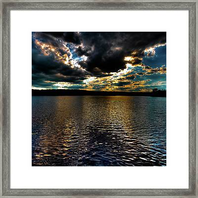 Framed Print featuring the photograph June Sunset On Nicks Lake by David Patterson