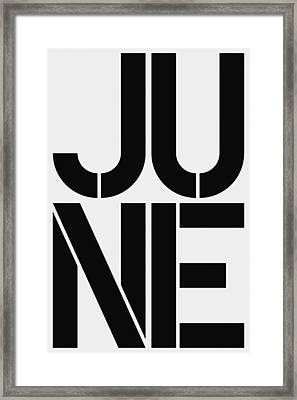 June Framed Print by Three Dots