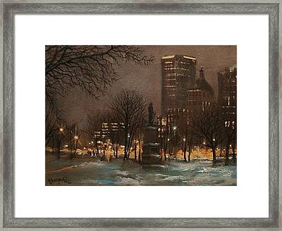 Juneau Park Milwaukee Framed Print