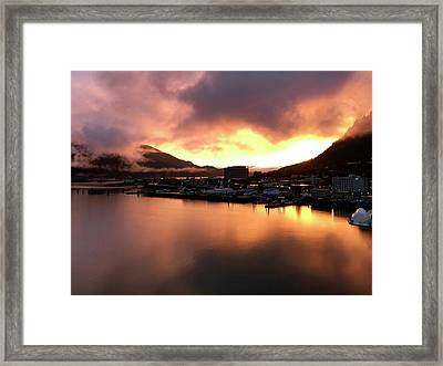 Juneau Sunset Framed Print