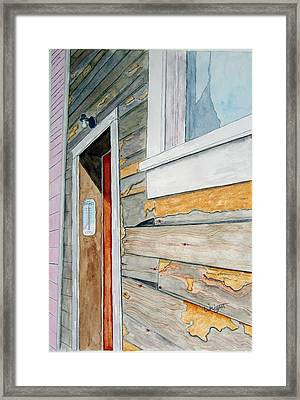 Juneau Townhouse Framed Print by Larry Wright