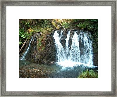 Juneau Waterfall Framed Print by Janet  Hall