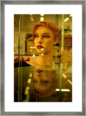 Junetta In Reflective Mood Framed Print by Jez C Self