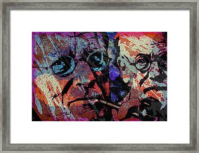 Jung And Freud Framed Print
