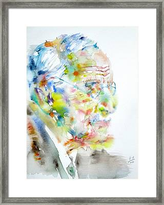 Jung - Watercolor Portrait.4 Framed Print