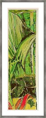 Jungle Angles Framed Print by Mindy Newman