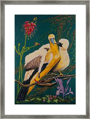 Jungle Baby Framed Print by V Boge