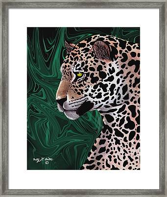 Jungle Cat Framed Print by Courtney Britton
