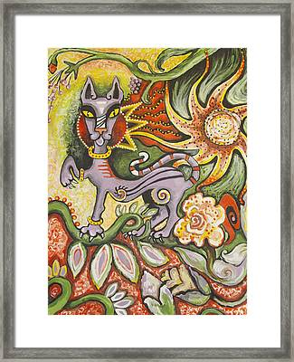 Jungle Cat Framed Print by Elizabeth Bonanza