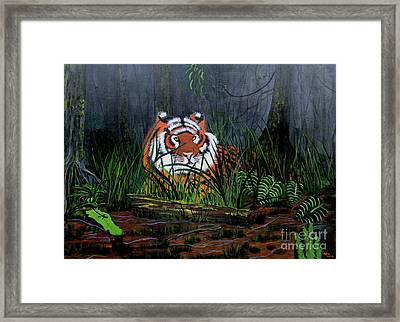 Framed Print featuring the painting Jungle Cat by Myrna Walsh