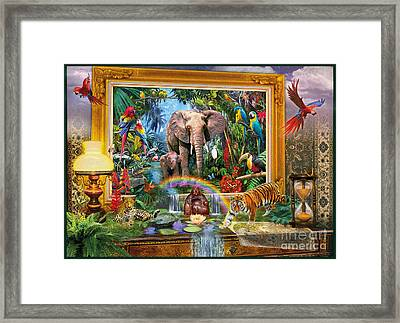Jungle Coming Framed Print