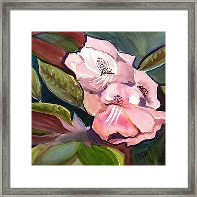 Jungle Floral Framed Print by Janet Doggett